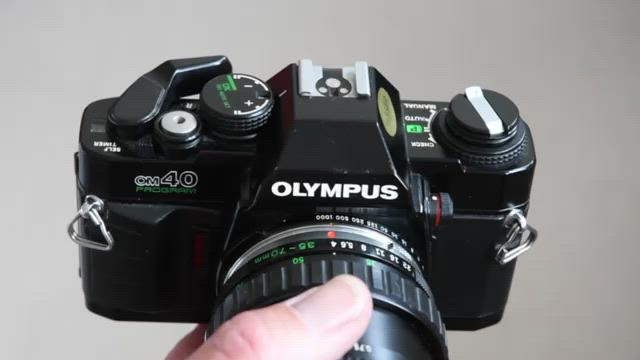 Olympus OM40 Film Loading and Shutter Sound