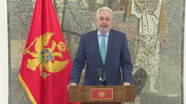 Zdravko Krivokapić sa pripadnicima bezbjednosnog sektora (07.09.2021.)