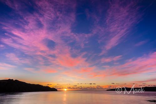 morning sunset newzealand sky sunrise auckland tranquilscene vibrantcolor kauwau ovcean tawharanuipeninsula