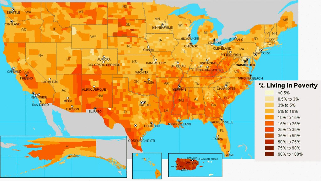 US Poverty Heat Map | I think this is pretty dope, so I put ...