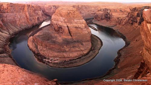 The Colorado River Makes A Grand Arc   by Steven Christenson