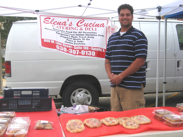 Mario from Elena's Cucina at Downtown Downers Grove Market