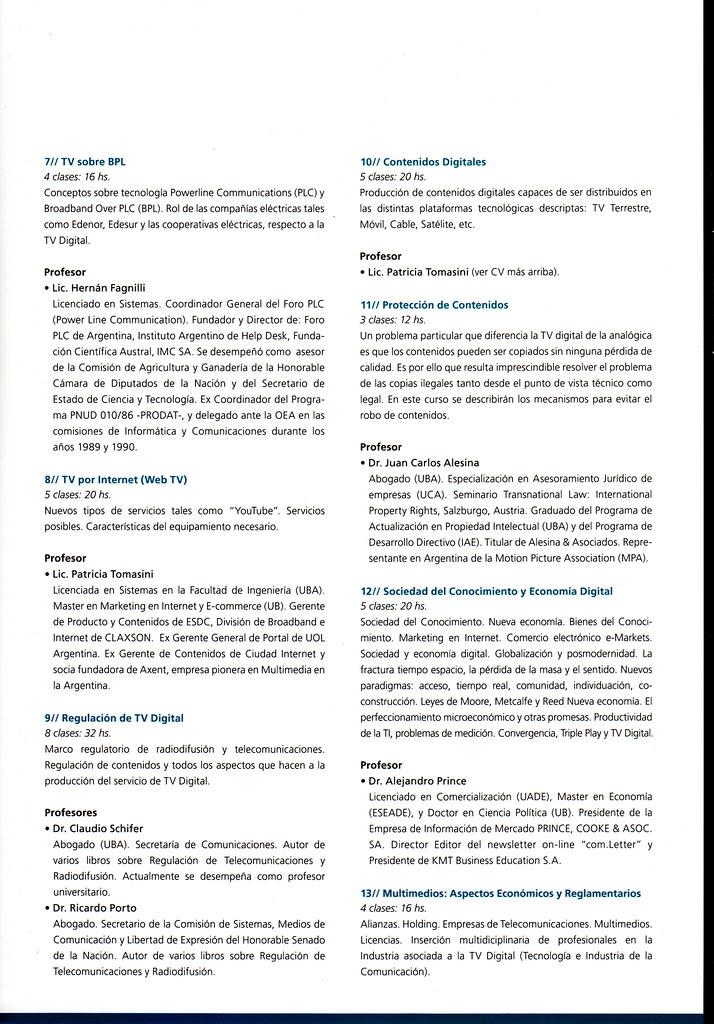Posgrado En Tv Digital Up Folleto Página 4 Luis Valle