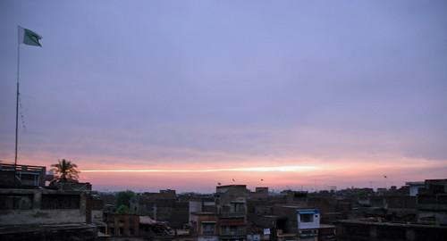pakistan sunset punjab chiniot 14thaugust