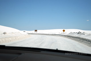 Driving through White Sands National Monument - Is it snowing? | by MsAdventuresinItaly