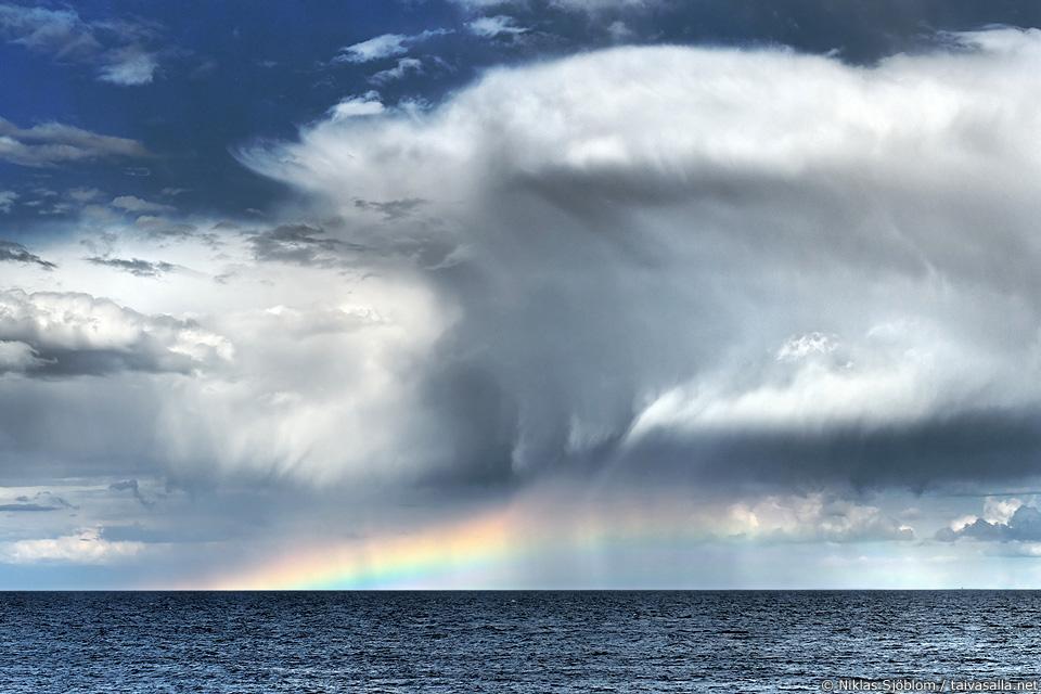 Rain clouds seen from Märket