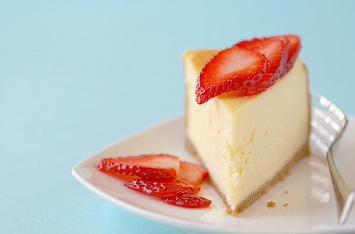 Cheesecake and Strawberries | by Gayla J.
