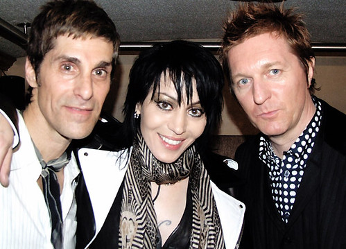 Perry Farrell & Joan Jett & Keanan Duffty @ the John Varvatos opening party where CBGB used to be | by bp fallon