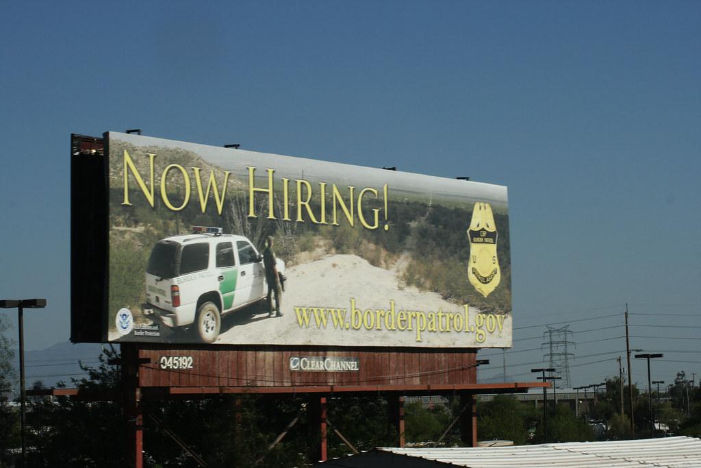 Border patrol now hiring!