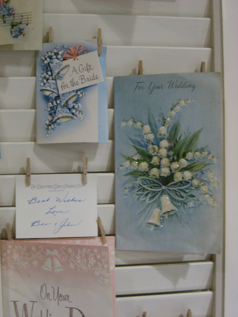 vintage wedding cards  the card on the right with lily
