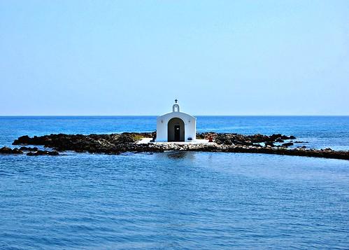 St. Nicholas chapel at Georgioupolis on the Greek island of Crete   by Peace Correspondent