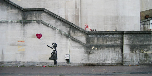 Banksy Girl and Heart Balloon | by - Dom -