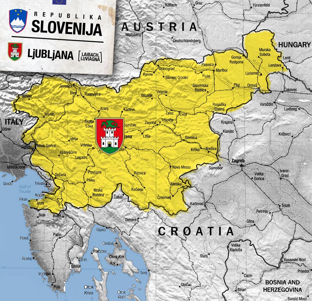 Mapa Slovenije Lab604 Flickr