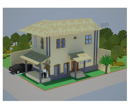Contoh Desain Rumah Tampak Samping Luar dari Annahape Studi