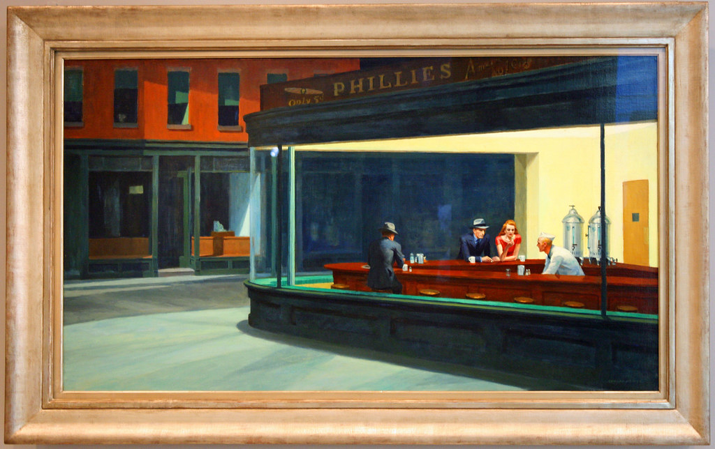 Art Institute of Chicago: Nighthawks by Edward Hopper