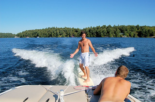 Wake surfing | by Jim Crocker