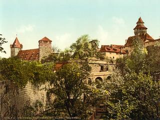 Vestner gate & Imperial stables, Nuremberg, Bavaria, ca. 1895