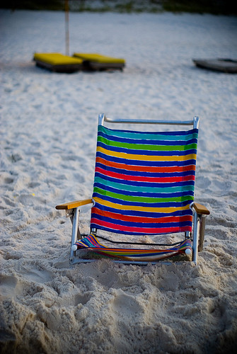 ocean vacation beach relax rainbow sand chair stripes potd sit rest
