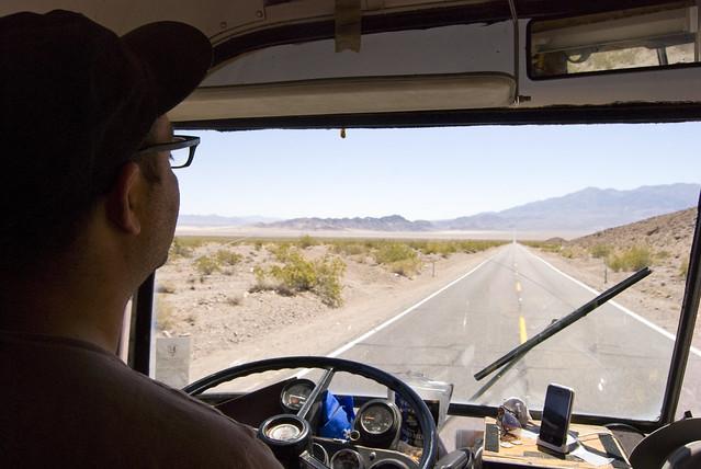 chicken john drives the bus
