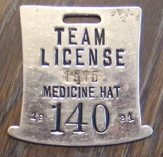 ALBERTA, MEDICINE HAT 1915/1921 (horse) Team license plate | by woody1778a