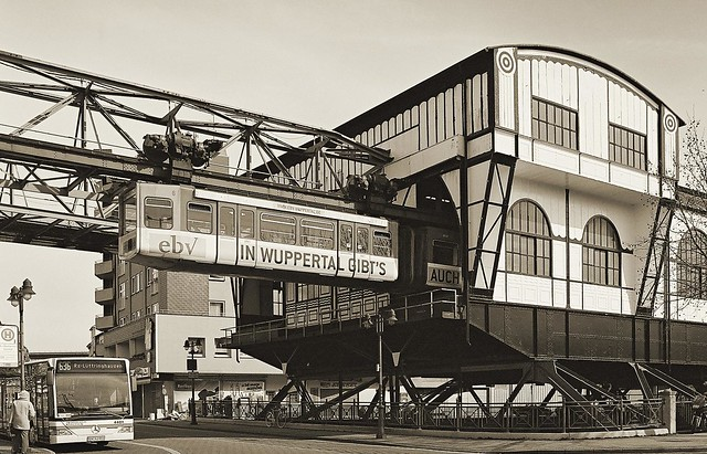 Wuppertal suspension monorail: The Oberbarmen depot
