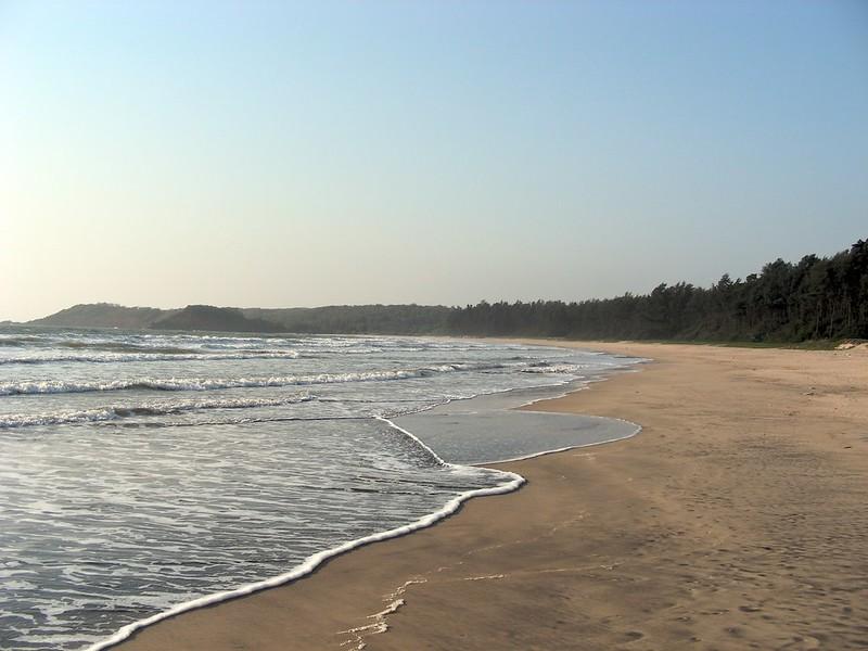 Deserted beach on the Konkan Coast