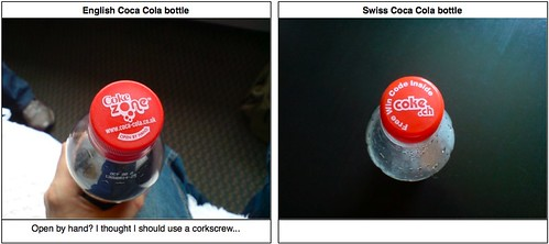 English vs. Swiss: Coca Cola bottle | by greenbird_ontree