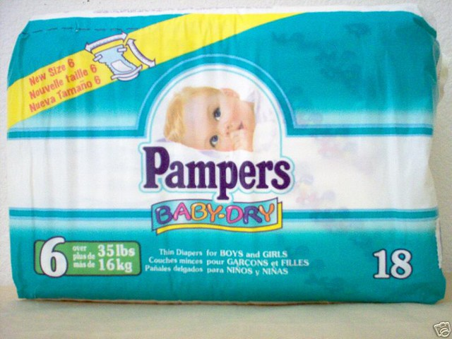 Pampers 1998 04 Pampers Baby Dry Size 6 Pampers