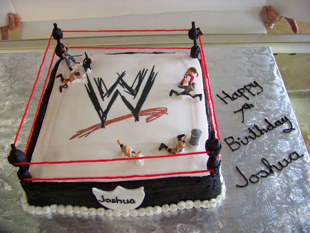 Awesome Wwe Birthday Cake A 12 Inch Chocolate Cake For A Young Fan Flickr Personalised Birthday Cards Paralily Jamesorg