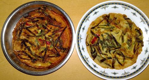 Jason Chong's vegetable pancake | by maangchi