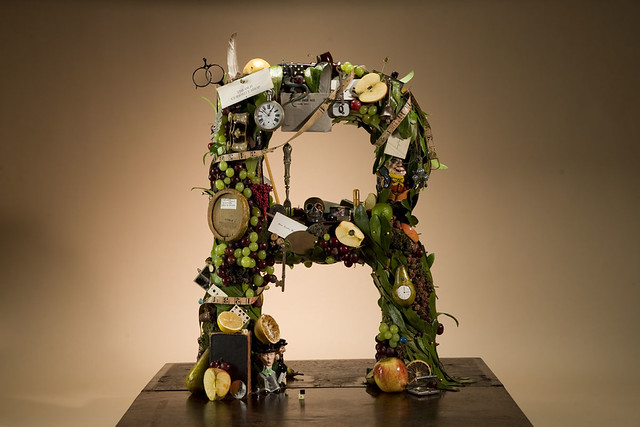Letter Made Out Of Objects.Letter Made From Objects Artist Carl Burgess Having Compl
