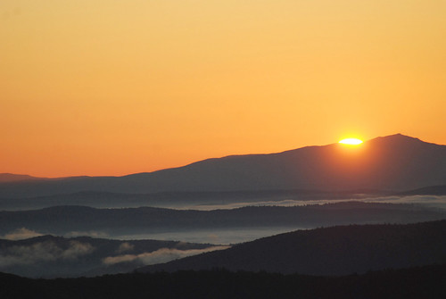 mountains sunrise vermont