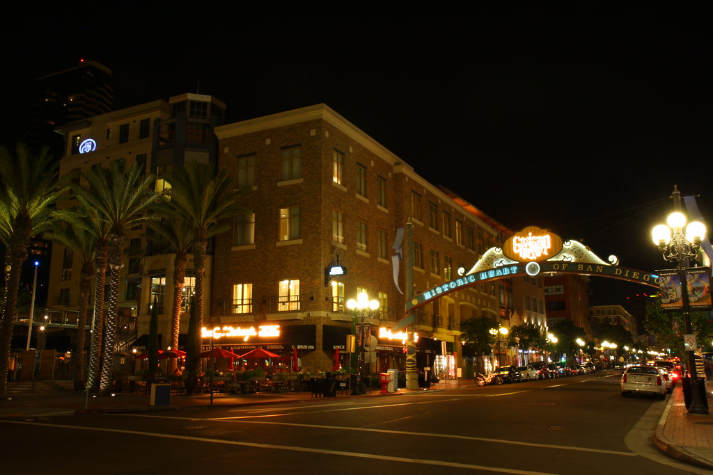 "Gaslamp Quarter - San Diego | the ""historic heart of San Die… | Flickr"