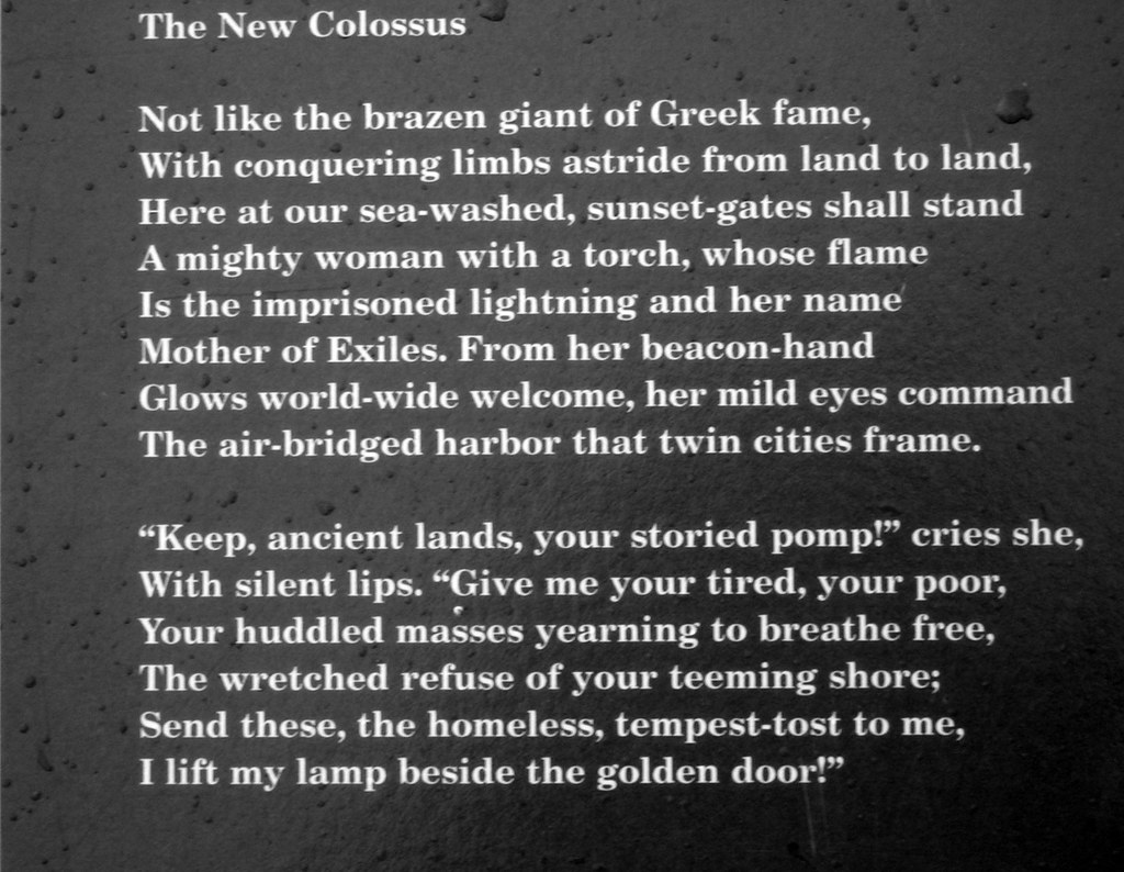 The-New-Colossus | Inscription on the Statue of Liberty | Jeremiah