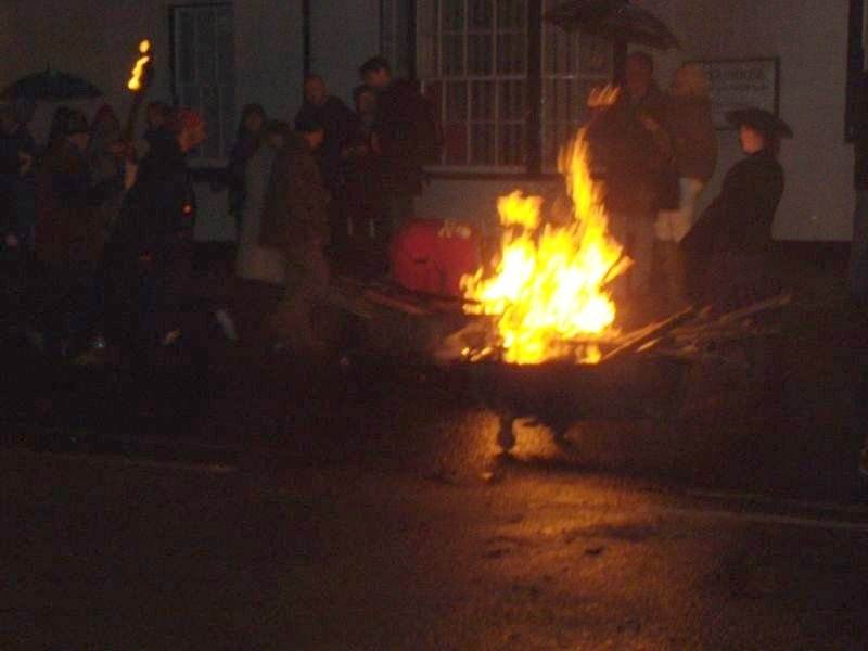 Black Bogies Little bonfires on wheels, fuelled by discarded torches. Robertsbridge to Battle