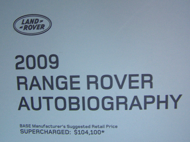 Range Rover sticker price