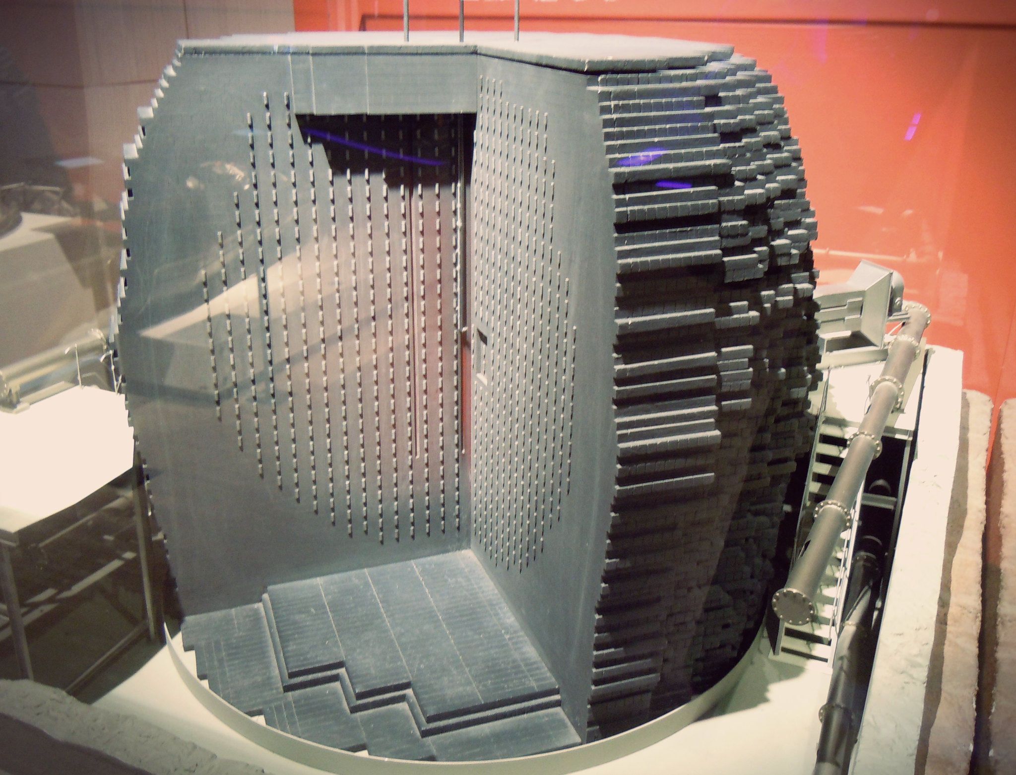One of the first nuclear reactor model