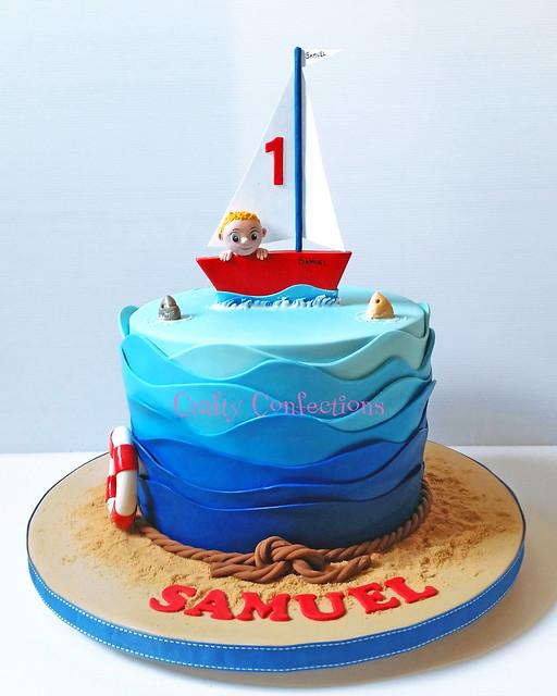 20150607_102818 wm 1st birthday boat and waves cake
