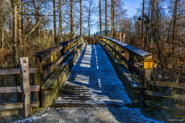 Kanaka Creek Riverfront Trail Wooden Bridge