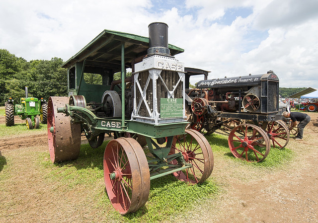 Case and Avery prairie tractors