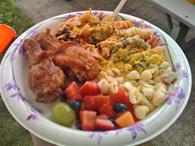 Fried Chicken and Salads