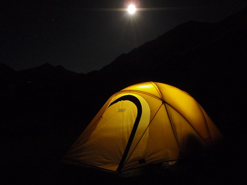 moonrise and my tent at a night at Moke lake | by solarthermienator
