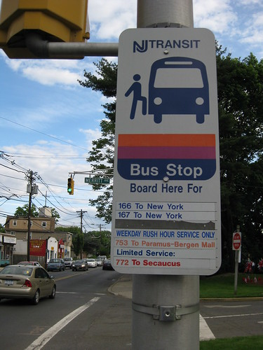 Nj Transit Bus Stop Info In Front Of Borough Hall I M