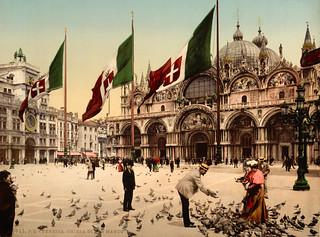 Piazza San Marco & Basilica, Venice, Italy, ca. 1895