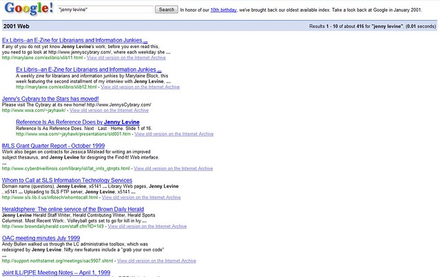 me in Google's first search index from 2001 | what a blast f… | Flickr