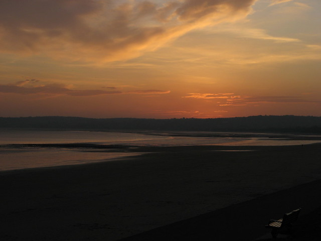Sunset on Swansea Bay, from the Civic centre