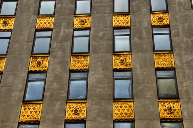 Gold Windows in NYC- HDR