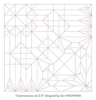 ティラノサウルス 展開図 / Tyrannosaurus Ver.2 CP | by Gen Hagiwara