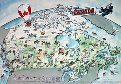 Postcard - Painted Map of Canada | by adam79