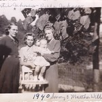Bertie Poole Johnson, Viola Johnson, Sonny Williams, Martha Johnson Williams, 1940